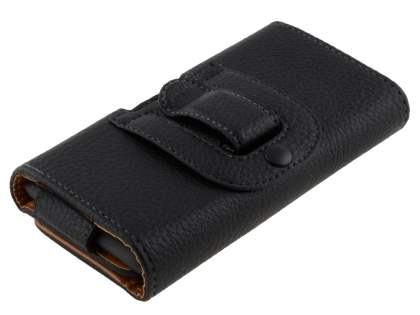 Textured Synthetic Leather Belt Pouch