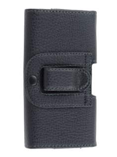 Textured Synthetic Leather Belt Pouch for Huawei Ascend G6 - Classic Black