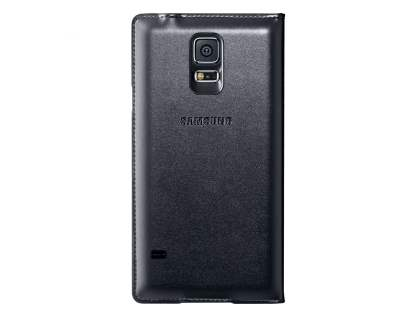 Genuine Samsung Galaxy S5 Wireless Charging S-View Flip Cover - Black