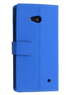 Slim Synthetic Leather Wallet Case with Stand for Microsoft Lumia 640 - Blue Leather Wallet Case