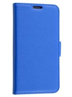 Slim Synthetic Leather Wallet Case with Stand for LG G4 - Blue