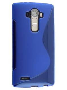 Wave Case for LG G4 - Frosted Blue/Blue Soft Cover