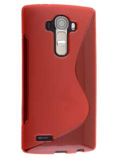 LG G4 Wave Case - Frosted Red/Red