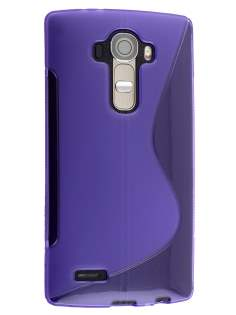 Wave Case for LG G4 - Frosted Purple/Purple Soft Cover