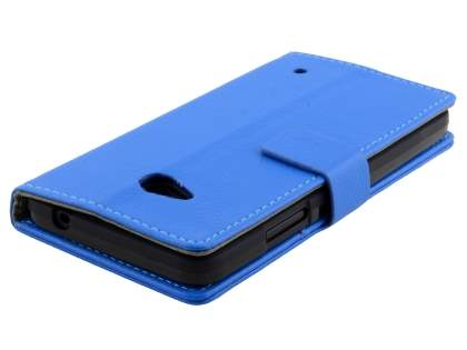 Slim Synthetic Leather Wallet Case with Stand for Microsoft Lumia 640 - Blue