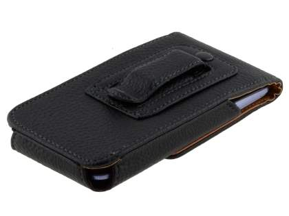 Textured Synthetic Leather Vertical Belt Pouch for ZTE Telstra 4GX Buzz