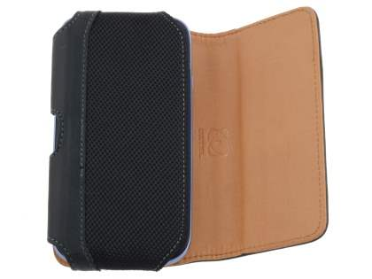 ZTE Telstra 4GX Buzz Synthetic Leather Belt Pouch - Classic Black