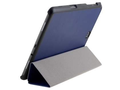 Premium Slim Synthetic Leather Flip Case with Stand for Samsung Galaxy Tab A 9.7 - Dark Blue Leather Flip Case
