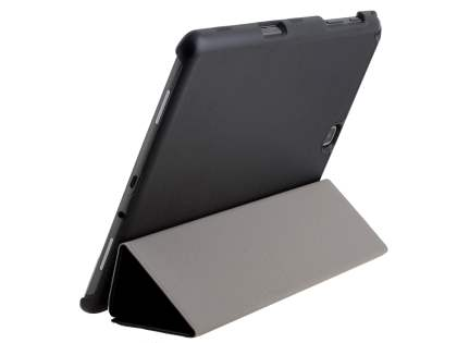 Premium Slim Synthetic Leather Flip Case with Stand for Samsung Galaxy Tab A 9.7 - Classic Black Leather Flip Case