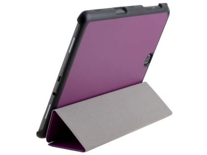 Premium Slim Synthetic Leather Flip Case with Stand for Samsung Galaxy Tab A 9.7 - Dark Purple Leather Flip Case