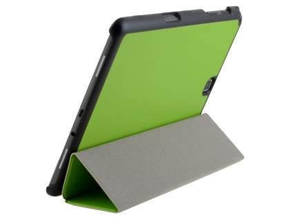 Premium Slim Synthetic Leather Flip Case with Stand for Samsung Galaxy Tab A 9.7 - Green Leather Flip Case