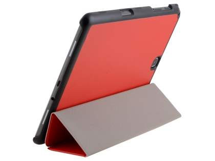 Premium Slim Synthetic Leather Flip Case with Stand for Samsung Galaxy Tab A 9.7 - Red Leather Flip Case
