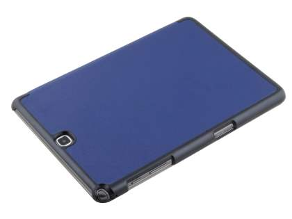Premium Slim Synthetic Leather Flip Case with Stand for Samsung Galaxy Tab A 9.7 - Dark Blue