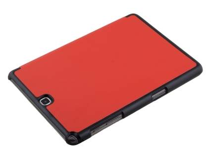 Premium Slim Synthetic Leather Flip Case with Stand for Samsung Galaxy Tab A 9.7 - Red
