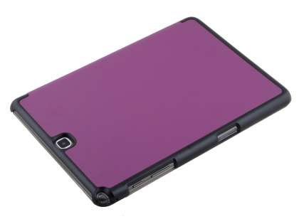 Premium Slim Synthetic Leather Flip Case with Stand for Samsung Galaxy Tab A 9.7 - Dark Purple