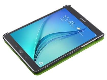 Premium Slim Synthetic Leather Flip Case with Stand for Samsung Galaxy Tab A 9.7 - Green