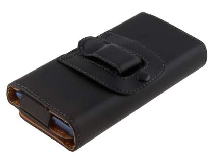 Smooth Synthetic Leather Belt Pouch (Bumper Case Compatible) for BlackBerry Torch 9860
