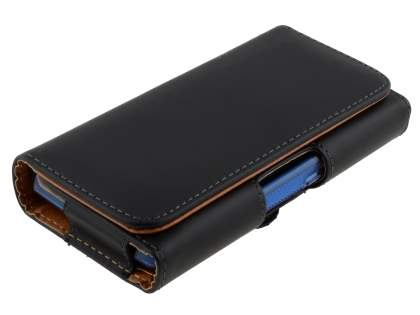 Smooth Synthetic Leather Belt Pouch - Bumper Case Compatible