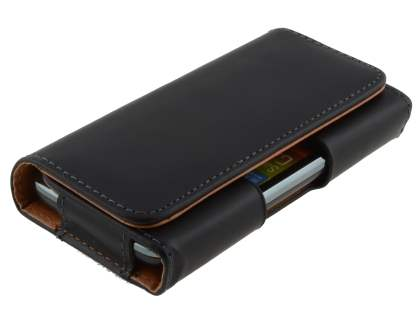 Textured Synthetic Leather Belt Pouch for Huawei Y635