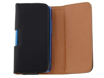 Smooth Synthetic Leather Belt Pouch (Bumper Case Compatible) for Telstra Dave ZTE T83