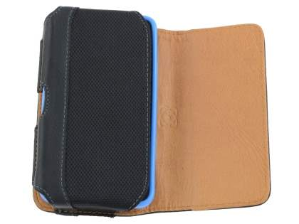 Sony Xperia E Synthetic Leather Belt Pouch (Bumper Case Compatible)