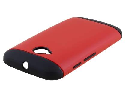 Impact Case for Motorola Moto E 2nd Gen - Red/Black Impact Case