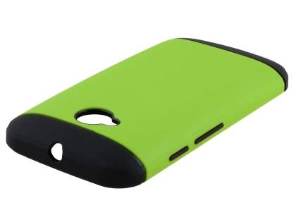 Impact Case for Motorola Moto E 2nd Gen - Green/Black Impact Case