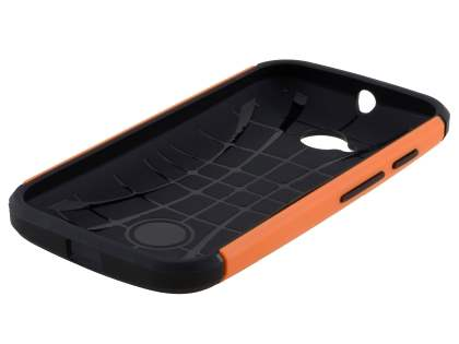 Motorola Moto E 2nd Gen Impact Case - Orange/Black
