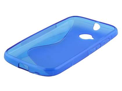 Wave Case for Motorola Moto E 2nd Gen - Frosted Blue/Blue