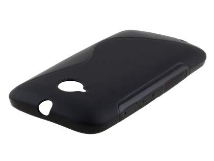 Motorola Moto E 2nd Gen Wave Case - Frosted Black/Black