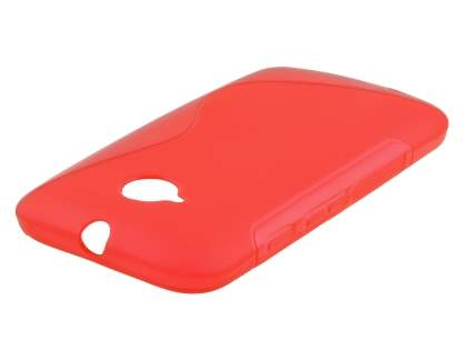 Wave Case for Motorola Moto E 2nd Gen - Frosted Red/Red Soft Cover