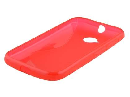 Motorola Moto E 2nd Gen Wave Case - Frosted Red/Red