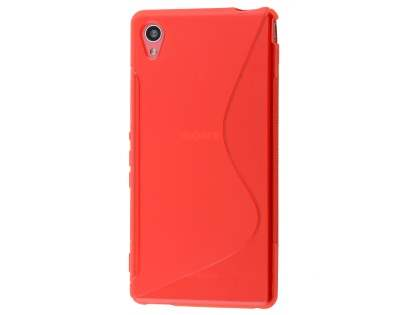 Wave Case for Sony Xperia M4 Aqua - Frosted Red/Red