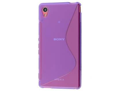 Wave Case for Sony Xperia M4 Aqua - Frosted Purple/Purple Soft Cover