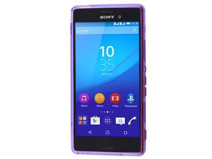 Wave Case for Sony Xperia M4 Aqua - Frosted Purple/Purple