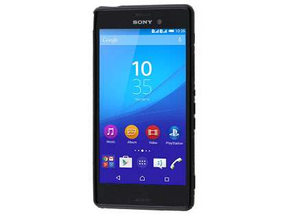 Sony Xperia M4 Aqua Wave Case - Frosted Black/Black