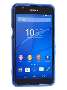 Sony Xperia E4g Wave Case - Frosted Blue/Blue