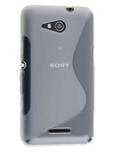 Wave Case for Sony Xperia E4g - Frosted Clear/Clear Soft Cover