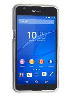 Sony Xperia E4g Wave Case - Frosted Clear/Clear
