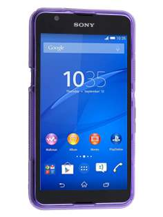 Wave Case for Sony Xperia E4g - Frosted Purple/Purple