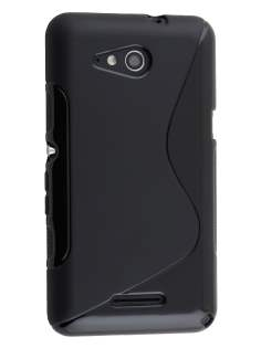 Wave Case for Sony Xperia E4g - Frosted Black/Black Soft Cover