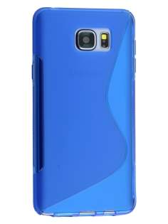 Wave Case for Samsung Galaxy Note 5 - Frosted Blue/Blue Soft Cover