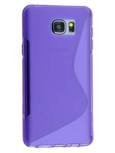 Wave Case for Samsung Galaxy Note 5 - Frosted Purple/Purple Soft Cover