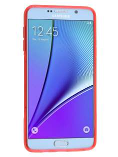 Samsung Galaxy Note 5 Wave Case - Frosted Red/Red