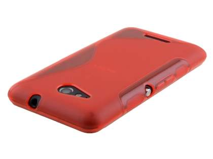 Wave Case for Sony Xperia E4g - Frosted Red/Red
