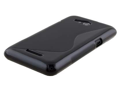 Sony Xperia E4g Wave Case - Frosted Black/Black