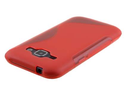 Wave Case for Samsung Galaxy J1 (2015) - Frosted Red/Red