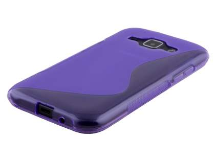 Samsung Galaxy J1 (2015) Wave Case - Frosted Purple/Purple