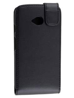Synthetic Leather Flip Case for Motorola Moto E 2nd Gen - Classic Black