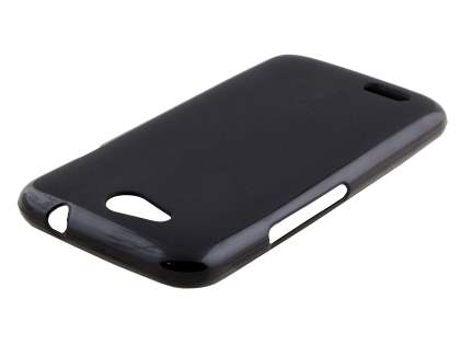 Frosted TPU Gel Case for ZTE Telstra 4GX Buzz - Classic Black